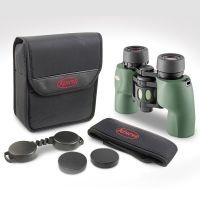 Green binocular with case and accessories