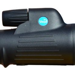 Black Monocular right hand side view showing blue viking badge