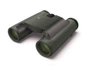 Side viewe of green compact binocular