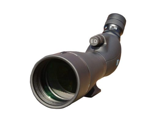 Black angled telescope front on